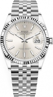 Rolex Datejust 36mm Stainless Steel 126234 Silver Index Jubilee