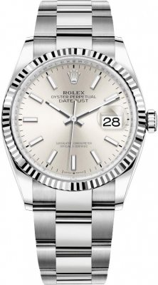 Rolex Datejust 36mm Stainless Steel 126234 Silver Index Oyster