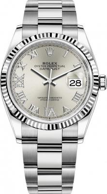 Rolex Datejust 36mm Stainless Steel 126234 Silver Roman VI IX Oyster