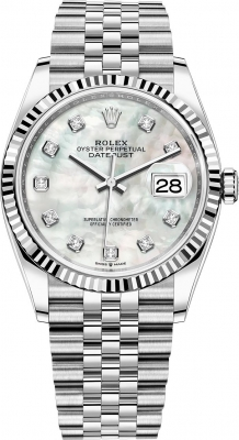 Rolex Datejust 36mm Stainless Steel 126234 White MOP Diamond Jubilee