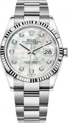 126234 White MOP Diamond Oyster