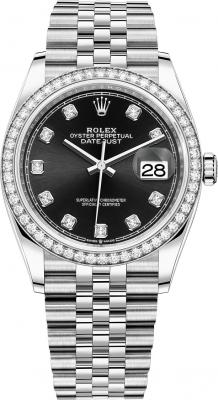 Rolex Datejust 36mm Stainless Steel 126284rbr Black Diamond Jubilee