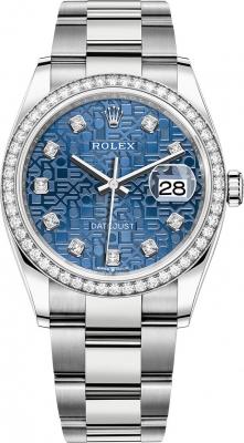 Rolex Datejust 36mm Stainless Steel 126284rbr Jubilee Blue Diamond Oyster