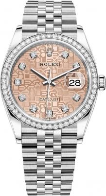 Rolex Datejust 36mm Stainless Steel 126284rbr Jubilee Pink Diamond Jubilee