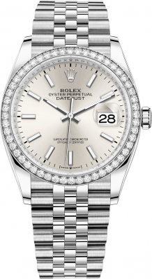Rolex Datejust 36mm Stainless Steel 126284rbr Silver Index Jubilee