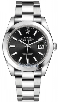 Rolex Datejust 41mm Stainless Steel 126300 Black Index Oyster