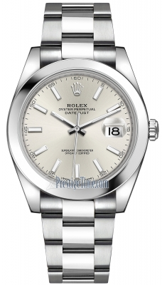 Rolex Datejust 41mm Stainless Steel 126300 Silver Index Oyster