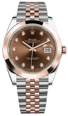 Rolex Datejust 41mm Steel and Everose Gold 126301 Chocolate Diamond Jubilee