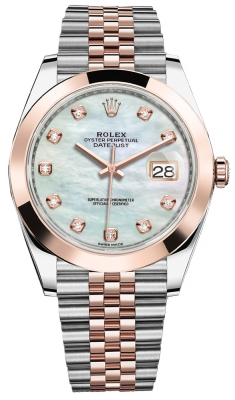 Rolex Datejust 41mm Steel and Everose Gold 126301 MOP Diamond Jubilee