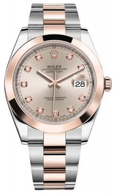 Rolex Datejust 41mm Steel and Everose Gold 126301 Sundust Diamond Oyster