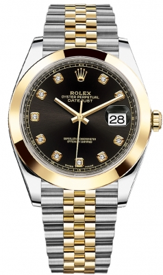 Rolex Datejust 41mm Steel and Yellow Gold 126303 Black Diamond Jubilee