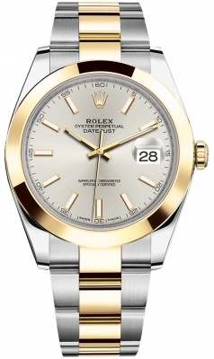 Rolex Datejust 41mm Steel and Yellow Gold 126303 Silver Index Oyster