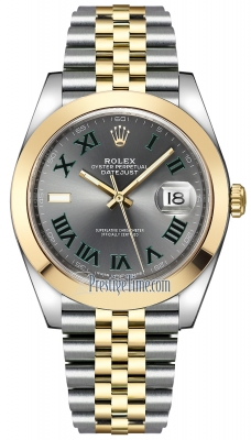 Rolex Datejust 41mm Steel and Yellow Gold 126303 Slate Roman Jubilee