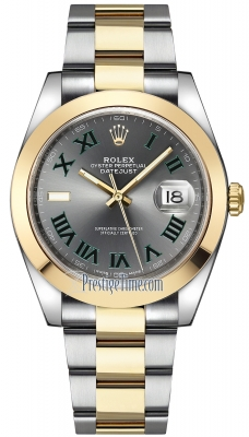Rolex Datejust 41mm Steel and Yellow Gold 126303 Slate Roman Oyster