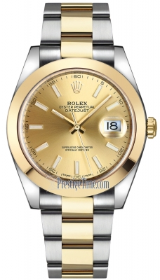 Rolex Datejust 41mm Steel and Yellow Gold 126303 Champagne Index Oyster