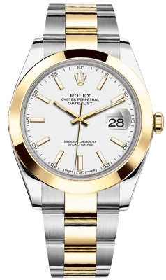 Rolex Datejust 41mm Steel and Yellow Gold 126303 White Index Oyster