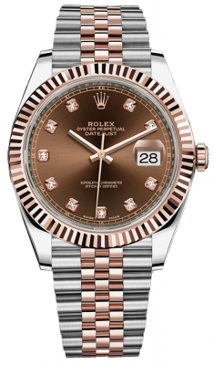 Rolex Datejust 41mm Steel and Everose Gold 126331 Chocolate Diamond Jubilee
