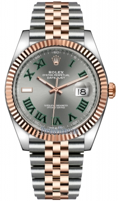Rolex Datejust 41mm Steel and Everose Gold 126331 Slate Roman Jubilee