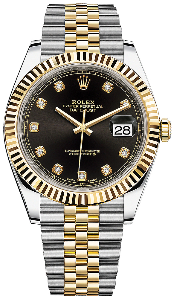 Rolex Datejust 41mm Steel and Yellow Gold 126333 Black Diamond Jubilee