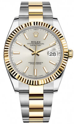 Rolex Datejust 41mm Steel and Yellow Gold 126333 Silver Index Oyster