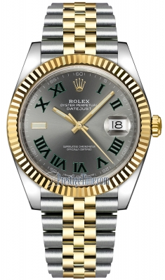 Rolex Datejust 41mm Steel and Yellow Gold 126333 Slate Roman Jubilee