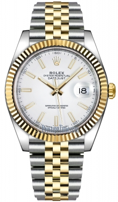 Rolex Datejust 41mm Steel and Yellow Gold 126333 White Index Jubilee