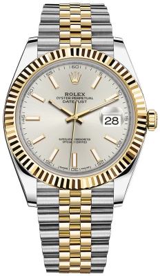 Rolex Datejust 41mm Steel and Yellow Gold 126333 Silver Index Jubilee