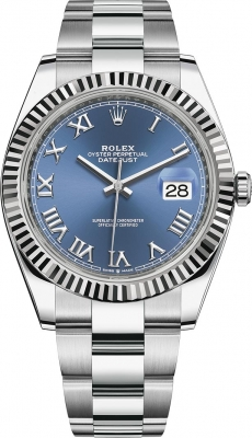 Rolex Datejust 41mm Stainless Steel 126334 Blue Roman Oyster