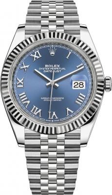 Rolex Datejust 41mm Stainless Steel 126334 Blue Roman Jubilee