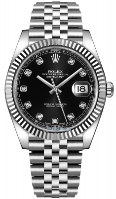 Rolex Datejust 41mm Stainless Steel 126334 Black Diamond Jubilee