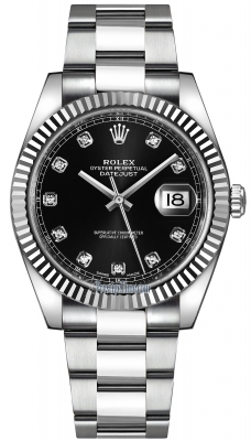 Rolex Datejust 41mm Stainless Steel 126334 Black Diamond Oyster