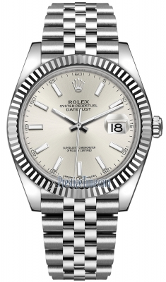 Rolex Datejust 41mm Stainless Steel 126334 Silver Index Jubilee