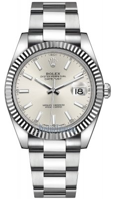 Rolex Datejust 41mm Stainless Steel 126334 Silver Index Oyster