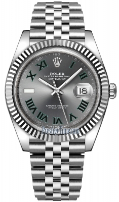 Rolex Datejust 41mm Stainless Steel 126334 Slate Roman Jubilee