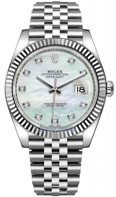 Rolex Datejust 41mm Stainless Steel 126334 MOP Diamond Jubilee