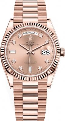 Rolex Day-Date 36mm Everose Gold 128235 Rose Diamond