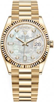 Rolex Day-Date 36mm Yellow Gold 128238 MOP Diamond