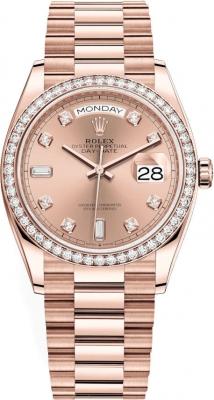 Rolex Day-Date 36mm Everose Gold 128345RBR Rose Diamond
