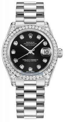 Rolex Datejust 31mm White Gold 178159 Black Diamond President