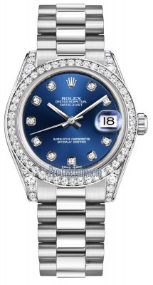 Rolex Datejust 31mm White Gold 178159 Blue Diamond President