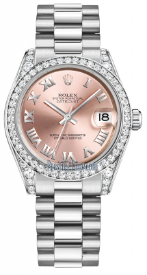 Rolex Datejust 31mm White Gold 178159 Pink Roman President