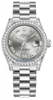 Rolex Datejust 31mm White Gold 178159 Rhodium Roman President