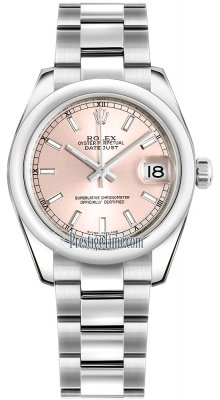 Rolex Datejust 31mm Stainless Steel 178240 Pink Index Oyster