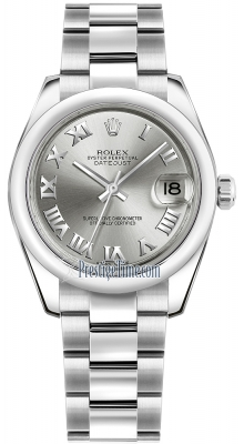 Rolex Datejust 31mm Stainless Steel 178240 Rhodium Roman Oyster