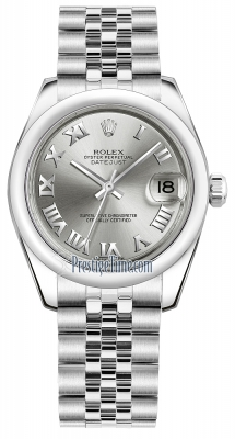 Rolex Datejust 31mm Stainless Steel 178240 Rhodium Roman Jubilee