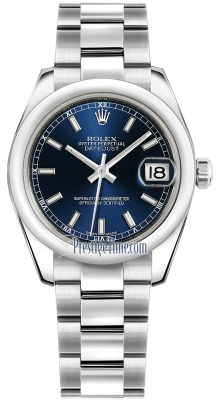 Rolex Datejust 31mm Stainless Steel 178240 Blue Index Oyster