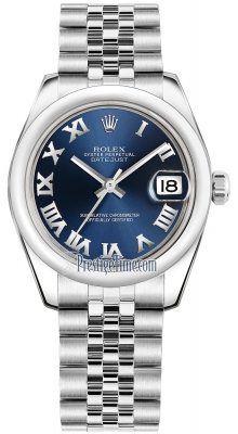 Rolex Datejust 31mm Stainless Steel 178240 Blue Roman Jubilee