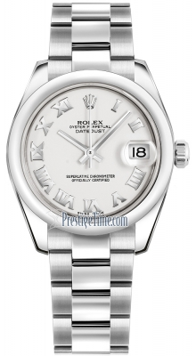 Rolex Datejust 31mm Stainless Steel 178240 White Roman Oyster