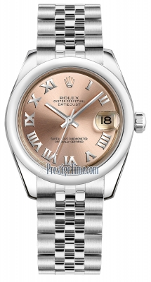 Rolex Datejust 31mm Stainless Steel 178240 Pink Roman Jubilee