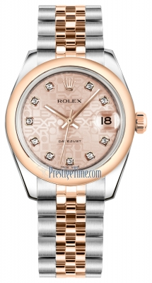 Rolex Datejust 31mm Stainless Steel and Rose Gold 178241 Jubilee Pink Diamond Jubilee